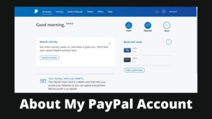 My PayPal Account